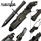 Survivor Special Ops Military Bayonet Knife Black