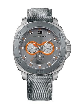 Boss Orange 1512673 - Reloj de Caballero movimiento de quarzo con correa téxtil gris
