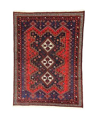 L'Eden del Tappeto Teppich Sirjand rot/dunkelblau 211t x t155 cm
