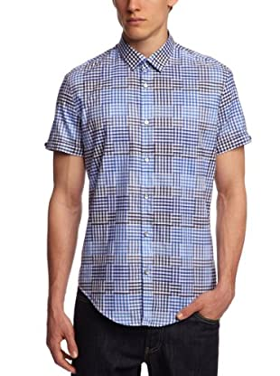 ESPRIT Collection Camisa Tennessee (Blanco / Azul)