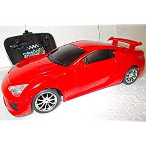 Remote Control Sports Car 4 Channel Radio RC Toy Classic (Color May Vary)