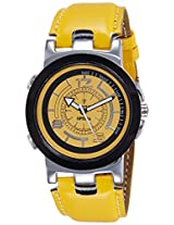 Optima Analog Yellow Dial Men's Watch - FT-ANL-2517