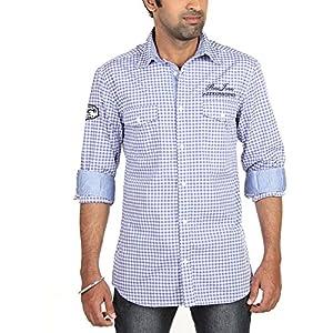 Radio Jockey Men Slim Fit Cotton Checks Shirt