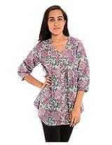 Diva Women's Cotton Regular Fit Kurti (Divakurti_09_46, Multicolor, 46)