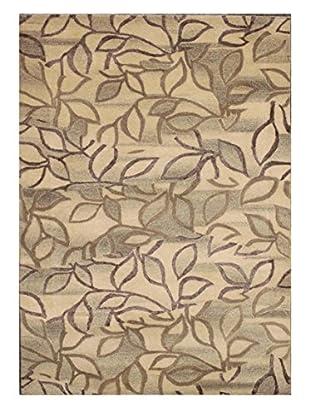 Little Leaves Rug, Beige, 5' x 8'