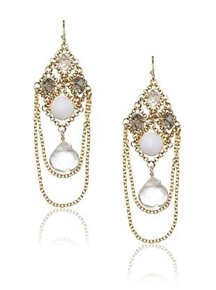 Diane Yang Chandelier Earrings, Clear