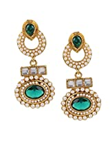 Ethnic Indian Bollywood Jewelry Set Traditional Fashion Pearl EarringsISREA033GR