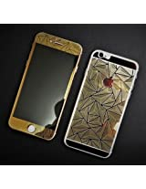 Kapa 3D Diamond Pattern Mirror Front + Back Tempered Glass Screen Protector for Apple iPhone 6 - Gold
