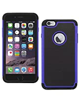 DMG Hybrid Dual Layer Armor Defender Protective Case Cover for Apple iPhone 6 Plus 6S Plus (Blue)
