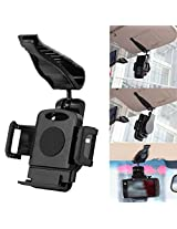 Universal Car Sun Visor Sunshade Clip Mount Holder for iPhone 6 Plus / 6 / 5S / 5C / 5 / 4S , Samsung Galaxy S7/ S6/ S5 / S4 / S3 / S2 / Note 5/ Note 4 / Note 3 / Note 2, Nokia Lumia, HTC One , LG G2, LG G3, LG 64 and Other Cell Phone