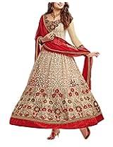 Fabfiza Womens Faux Georgette Zari Salwar Dress Material (Fbny-8005 _Beige _Free Size)