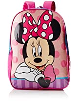 Disney Girl's Minnie Mouse Backpack, Pink, One Size