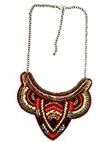 Abhishek Creations Red Glass Necklace for Women (AB ENK0386)