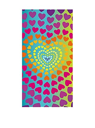 Art Experience Toalla De Playa Heart Azul 75 x 150