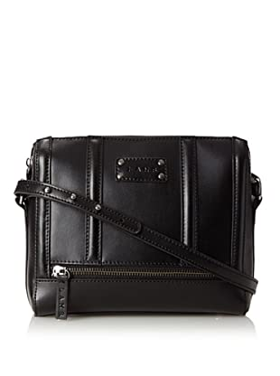 L.A.M.B. Women's Bria Zip Top Cross-Body, Black
