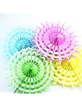My Party Suppliers Tissue Paper Fan Decorations / Snowflake Tissue Paper fan decoration - Light Green (Set of 3 )
