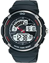 Q&Q Standard Dual Time Analog-Digital Black Dial Men's Watch M012-002