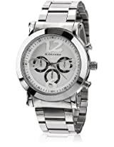 Giordano Techno Graph Chronograph White Dial Men's Watch - P9031