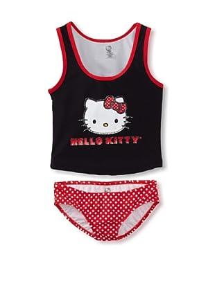 Hello Kitty Girl's 2-6X Iconic Tankini Set (Black)