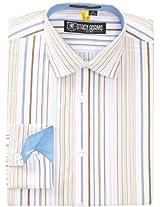 Stacy Adams Men's Acapulco Dress Shirt, Blue, 16.5 - 36/37
