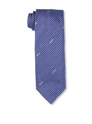Moschino Men's Polka Dot Tie, Blue