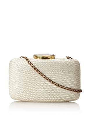 KAYU Women's Tista Straw Clutch, White, One Size