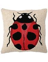 Peking Handicraft 16 by 16-Inch Hook Pillow, Lady Bug