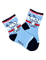 Baby Bucket Soft Cotton Snoopy Print Socks (18-24 months, Blue)