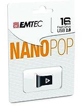 EMTEC Nano Pop 16 GB Flash Drive Black