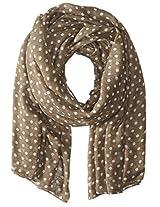 Saro Lifestyle Women's Polka Dot Design Shawl, Grey, One Size
