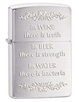 Zippo In Wine There Is Truth Lighter