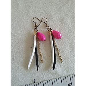 Knickknack Black n White Suede Earrings