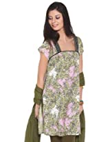 Diva Women's Cotton Multi Ethnic Print Cotton Pink Kurta - L