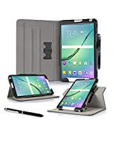 Galaxy Tab S2 9.7 Case, Samsung Galaxy Tab S2 9.7 case, rooCASE Dual View Slim Fit Leather PU Folio Stand Smart Cover SM-T710 SM-T715 Tablet - Black