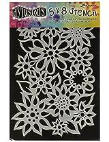 Ranger Dyan Reaveley's Dylusions Stencils, 5 by 8-Inch, Flower Medley