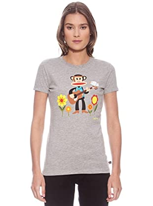 Paul & Frank Camiseta Julius Flower Power (Gris)