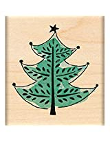 "Penny Black Mounted Rubber Stamp 1.75""X1.75""-Festive Tree"