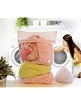Viva Houseware 2-Piece Set Of Machine Wash Mesh Fabric Zipper Closure Laundry Washing Bag