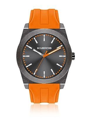 K&BROS Reloj 9560 (Gris / Naranja)