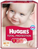 Huggies Total Protection Medium Size Diapers (40 Count)