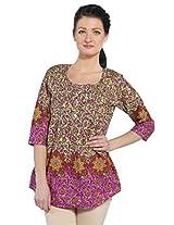 Bombay Fashions women's boarder printed kurti