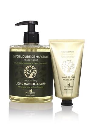 Panier des Sens Organic Olive Oil Liquid Soap and Hand Cream, Set of 2