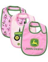 John Deere Baby-Girls Newborn Tractor Bib Set Pink