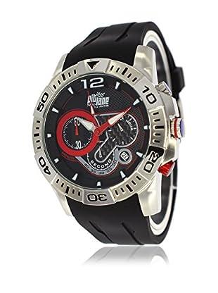 Pit Lane Uhr mit Miyota Uhrwerk Pl-1011-1 schwarz 45 mm