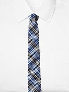 Original Penguin Men's Morton Plaid Tie, One Size (Blue)