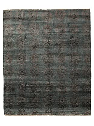 Darya Rugs Traditional Oriental Rug, Dark Green, 8' 1