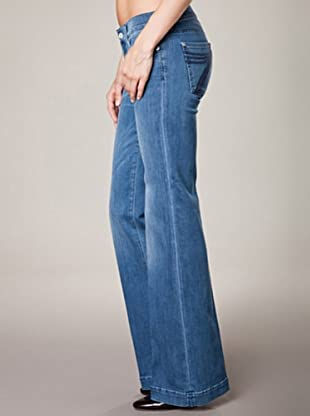 7 for all Mankind 5-Pocket The Skinny dark minnet Flar Leg (Blau Denim)