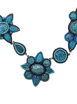 Sigris Collar Floral (Turquesa)