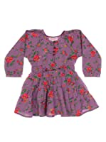 Spantajáparos Vestido Simca flores (Violeta)