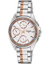 Casio Enticer Silver Dial Women's Watch - LTP-2086RG-7AVDF (A857)
